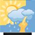 Zata�eno a� obla�no, ob�asn� sn�en�. Na v�chod� sn�en� trvalej��. Odpoledne od z�padu protrh�v�n� obla�nosti. Maxim�ln� denn� teploty -1/2 �C. M�rn� severov�chodn� v�tr, na Vyso�in� a ji�n� Morav� p�echodn� �erstv� 4 a� 8 m/s, m�sty s n�razy kolem 15 m/s.